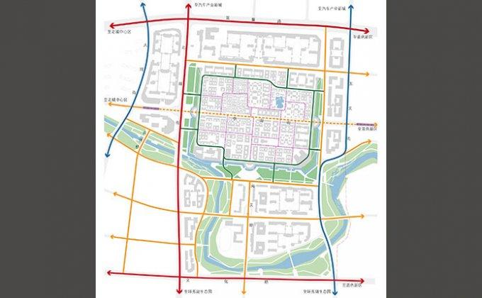 威海卫古城图平面图