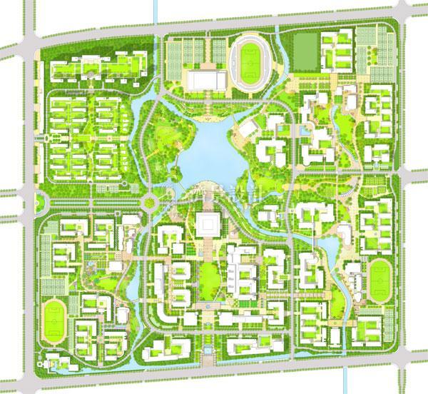 洛阳师范学院_新校区设计_大学校园_济景建筑设计有限